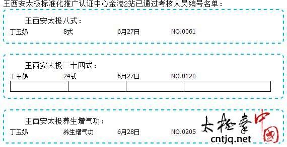 王西安太极标准化推广认证中心金港2站