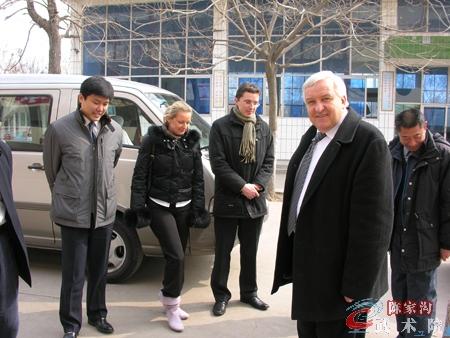 波兰太极拳爱好者在陈家沟武术院观光学习